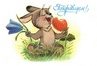 Congratulations! Hare flower strawberry