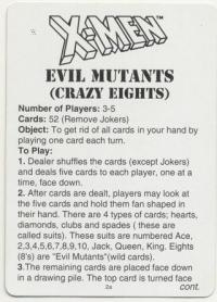 Игральные карты Марвел комикс Люди Икс