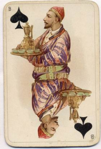 Historical playing cards painted artist Nikolai Karazin