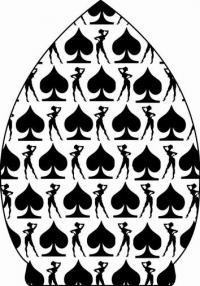 Пиковые игральные карты