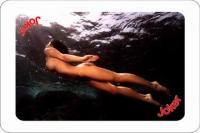 Mermaid playing cards - underwater world.