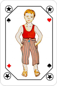 playing cards latvian dark and light