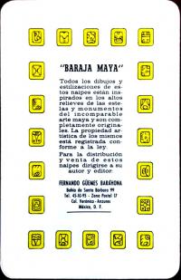 Игральные карты Майя Мексика