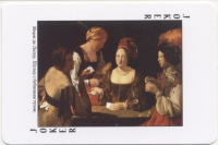 Playing cards in world painting