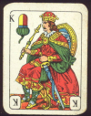 Small solitaire cards with German suits Bayerisches Einfachbild