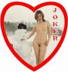 Игральные эротические карты Сердце. Из России с любовью