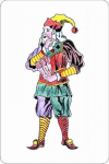Эротическая пародия на игральные карты Рококо.
