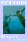 Mermaid playing cards - underwater world.
